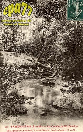 Sablonnières - Les Cascades du Rû d'Avaleau