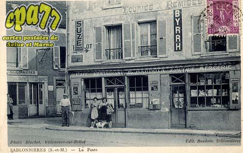 Sablonnières - La Poste