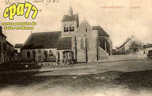 Sablonnières - L'Eglise