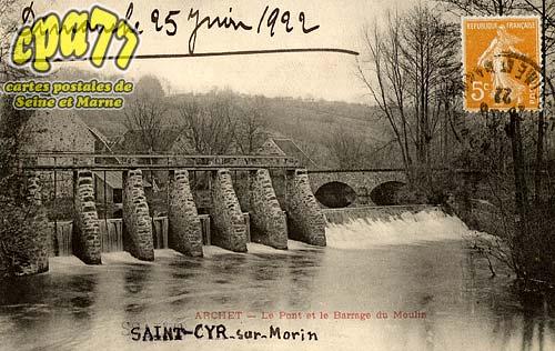 St Cyr Sur Morin - Le Pont et le Barrage du Moulin