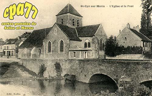 St Cyr Sur Morin - L'Eglise et le Pont