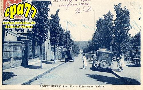 St Fargeau Ponthierry - l'Avenue de la Gare