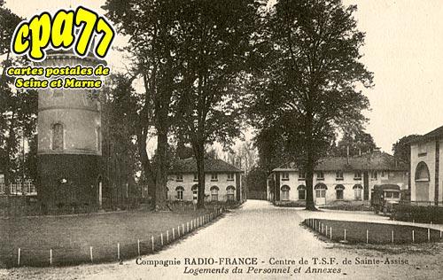 St Fargeau Ponthierry - Compagnie Radio-France - Centre de T.S.F. de Sainte-Assise