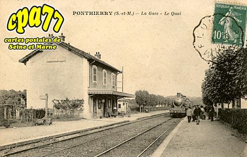 St Fargeau Ponthierry - La Gare - Le Quai