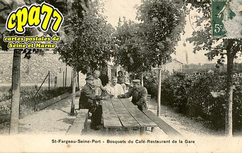 St Fargeau Ponthierry - Bosquets du Café-Restaurant de la Gare
