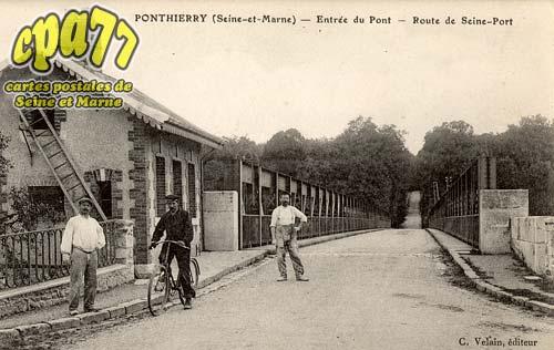 St Fargeau Ponthierry - Entrée du Pont - Route de Seine-Port