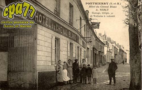 St Fargeau Ponthierry - Hôtel du Cheval Blanc - A. Verly - Garage, téléph. 21 et Voitures à volonté