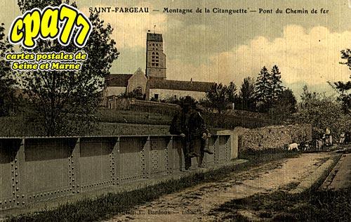 St Fargeau Ponthierry - Montagne de la Citanguette - Pont du Chemin de Fer