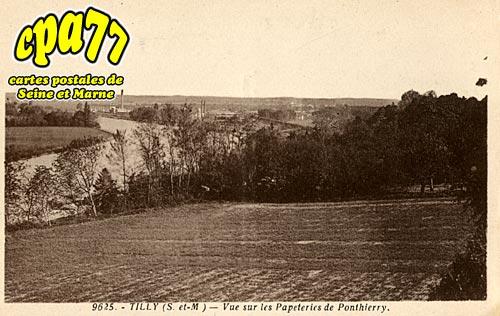 St Fargeau Ponthierry - Tilly - Vue sur les Papeteries de Ponthierry