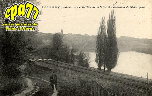 St Fargeau Ponthierry - Ponthierry - Perspective de la Seine et Panorama de St-Fargeau