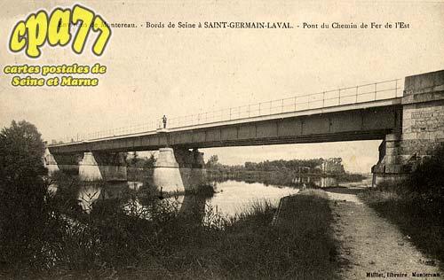 St Germain Laval - Environs de Montereau - Bords de Seine à Saint-Germain-Laval - Pont du Chemin de Fer de l'Est