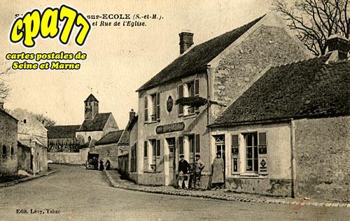 St Germain Sur école - Le Bureau de Tabac et Rue de l'Eglise