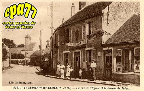 St Germain Sur école - La Rue de l'Eglise et le Bureau de Tabac