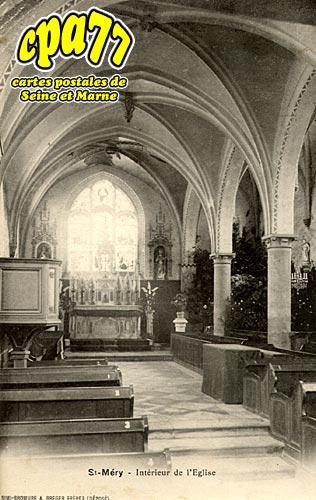 St Méry - Intérieur de l'Eglise