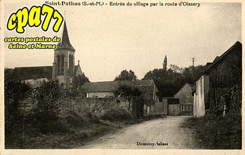 St Pathus - Entrée du Village par la route d'Oissery