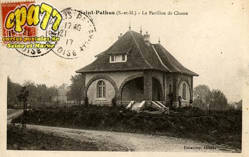 carte postale ancienne de st pathus 77 le pavillon de chasse. Black Bedroom Furniture Sets. Home Design Ideas
