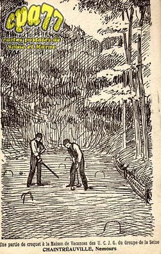 St Pierre Lès Nemours - Une partie de croquet à la Maison de Vacances des U.C.J.G. du Groupe de la Seine