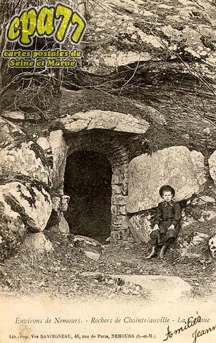 St Pierre Lès Nemours - Environs de Nemours - Rocher de Chaintréauville - La Cabane