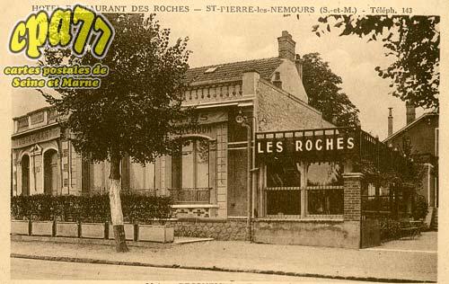St Pierre Lès Nemours - Hôtel-Restaurant des Roches - Maison Becquemin - Entrée jardin
