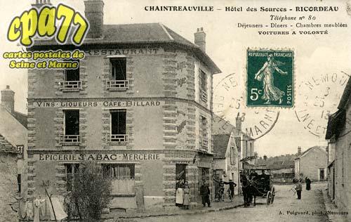 St Pierre Lès Nemours - Chaintreauville - Hôtel des  Sources - Ricordeau