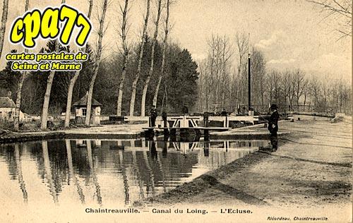 St Pierre Lès Nemours - Canal du Loing - L'Ecluse