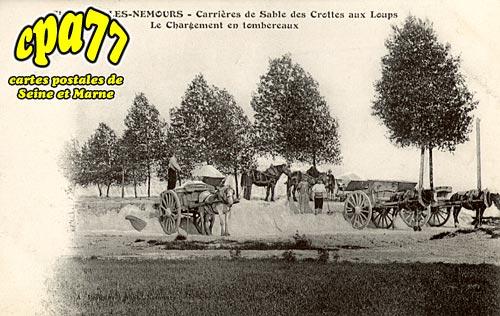 St Pierre Lès Nemours - Carrières de sable des Crottes aux Loups - Le Chargement en tombereaux