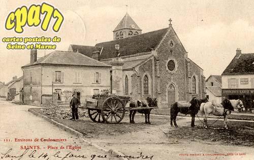 Saints - Environs de Coulommiers - Place de l'Eglise