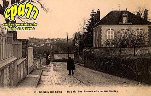 Samois Sur Seine - Rue du Bas-Samois et vue sur Héricy