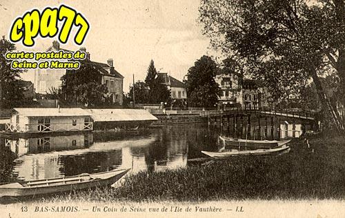 Samois Sur Seine - Un coin de Seine vue de l'Ile de Vauthère
