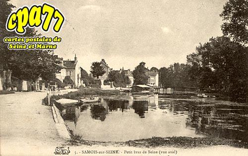 Samois Sur Seine - Petit bras de Seine (vue aval)