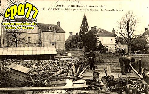 Samois Sur Seine - Après l'inondation de janvier 1910 - Dégâts produits par le désastre - La Passerelle de l'Ile