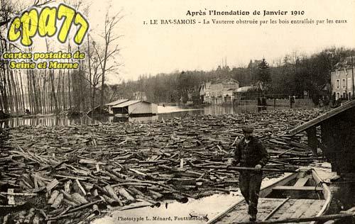 Samois Sur Seine - Après l'Inondation de Janvier 1910 - La Vauterre obstruée par les bois entraînés par les eaux