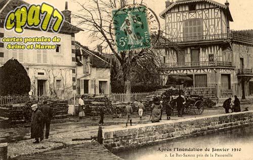 Samois Sur Seine - Après l'Inondation de Janvier 1910 - Le Bas-Samois près de la Passerelle