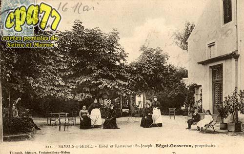 Samois Sur Seine - Hôtel et Restaurant St-Joseph, Bégat-Gosseron, propriétaire