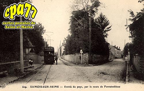 Samois Sur Seine - Entrée du Pays, par la route de Fontainebleau