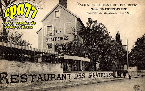 Samois Sur Seine - Ancien Restaurant des Plâtreries - Maison Wattelier-Périer, transférée au Bas-Samois