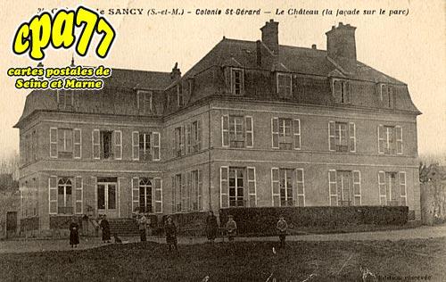 Sancy Lès Meaux - Colonie St-Gérard - Le Château (la façade sur le parc)