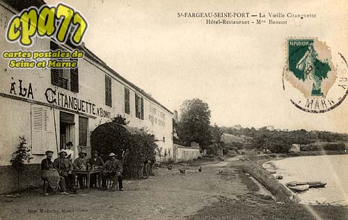 Carte postale ancienne de seine port 77 la vieille - Restaurant seine port ...
