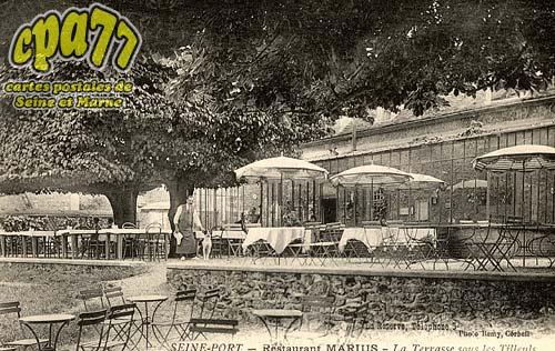 Carte postale ancienne de seine port 77 restaurant - Restaurant seine port ...