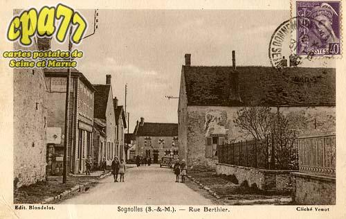 Sognolles En Montois - Rue Berthier
