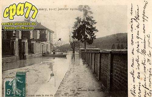 Thomery - Inondations de Thomery, 21-27 janvier 1910
