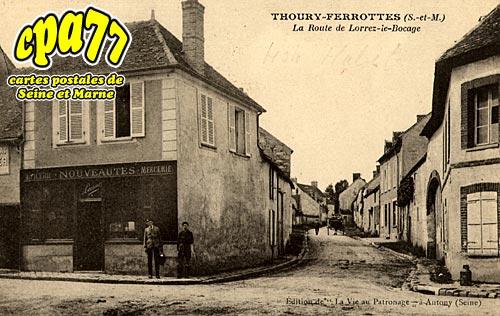 Thoury Férottes - La Route de Lorrez-le-Bocage