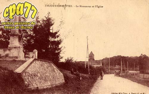Thoury Férottes - Le Monument et l'Eglise