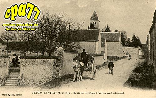 Treuzy Levelay - Route de Nemours à Villeneuve-La-Guyard