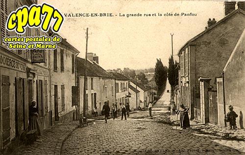 Valence En Brie - La grande et la côte de Panfou