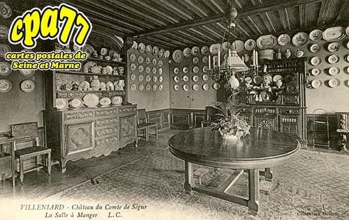 Vaux Sur Lunain - Villeniard - Château du Comte de Ségur - La salle à manger