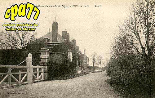 Vaux Sur Lunain - Villeniard - Château du Comte de Ségur - Côté du Parc
