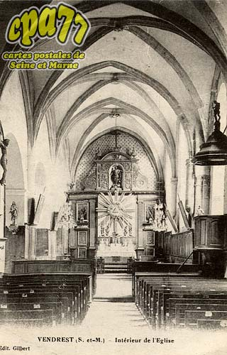 Vendrest - Intérieur de l'église