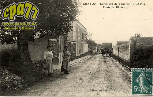 Vendrest - Chaton - Commune de Vendrest - Route de Dhuisy