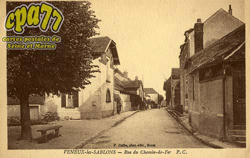 carte postale ancienne de v neux les sablons 77 veneux